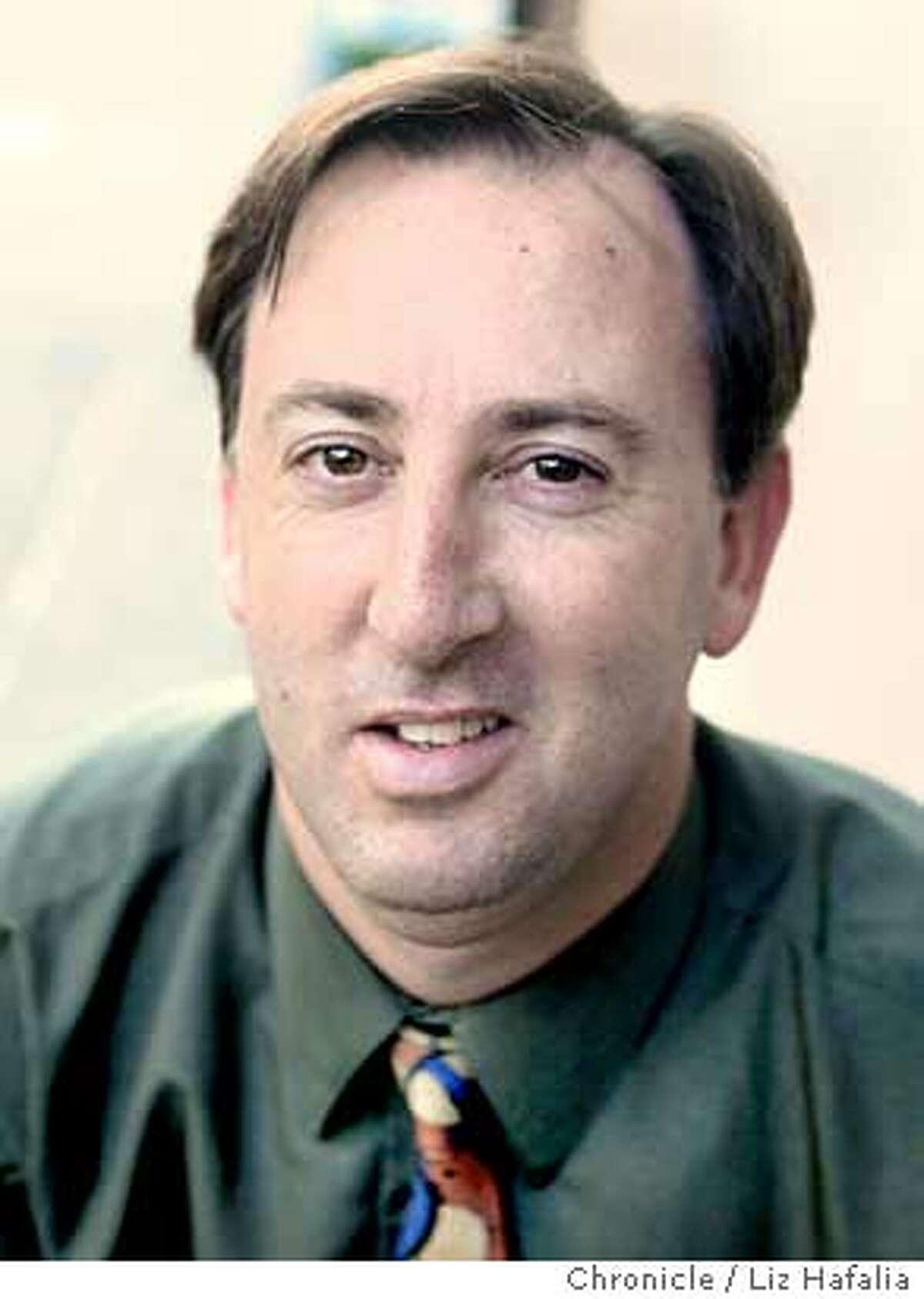 Mug of chronicle reporter Mark Fainaru-Wada. Photo taken in San Francisco on 10/8/04, CA. by LIZ HAFALIA / San Francisco Chronicle