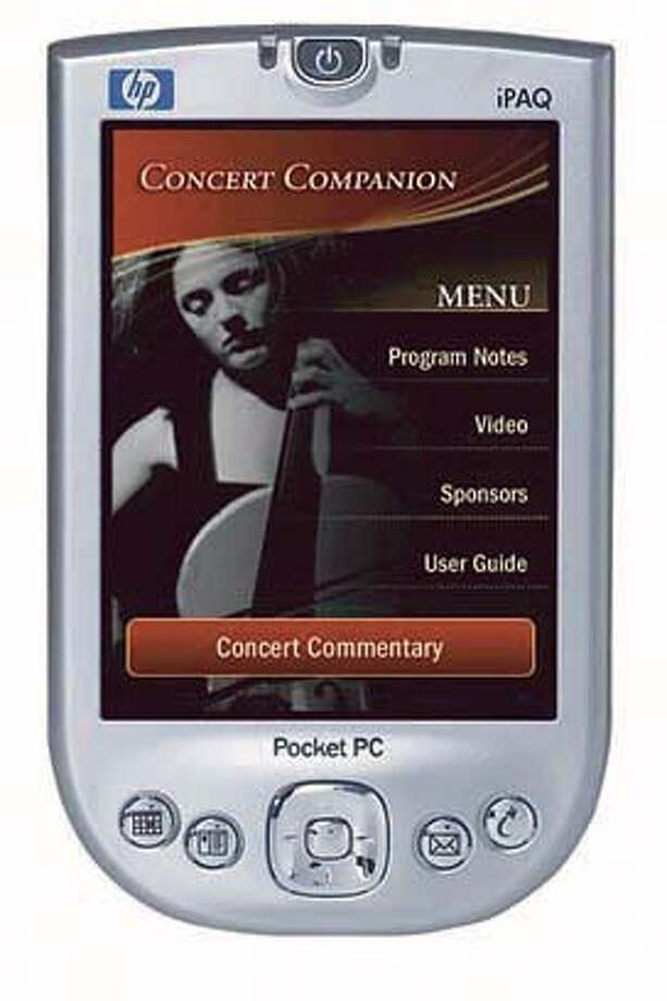 Photo art of the Concert Companion on a PDA.