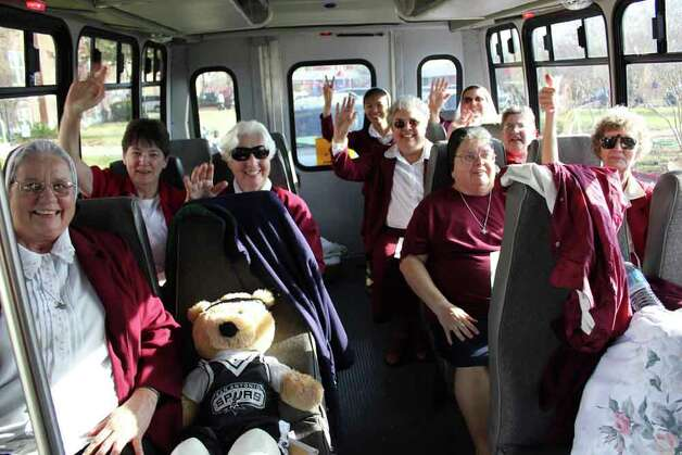 Nuns prepare to head of to a recent Spurs game. Photo: Courtesy Photo