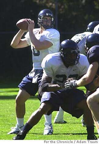 Cal Football practice August 27, 2004. Photo by Adam Traum Photo: Adam Traum