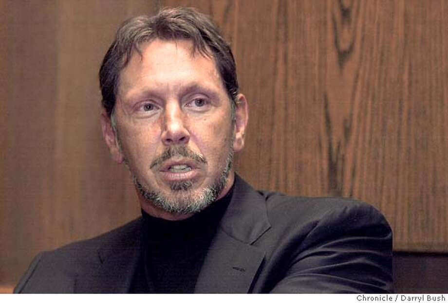 Larry Ellison, CEO of Oracle at the Chronicle.  Darryl Bush / The Chronicle Photo: Darryl Bush