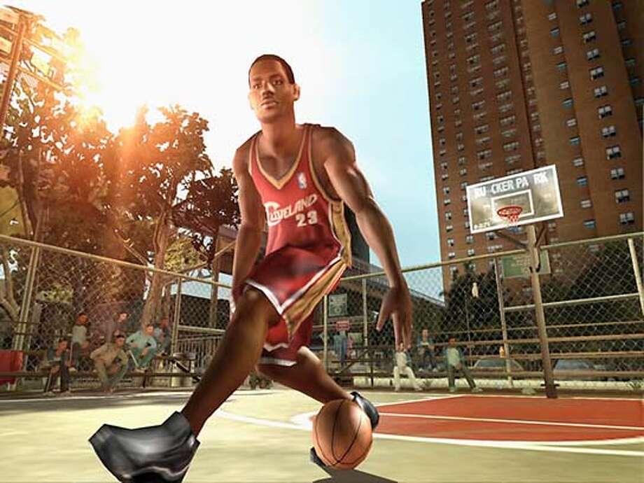 Game image of NBA Street Volume 3.