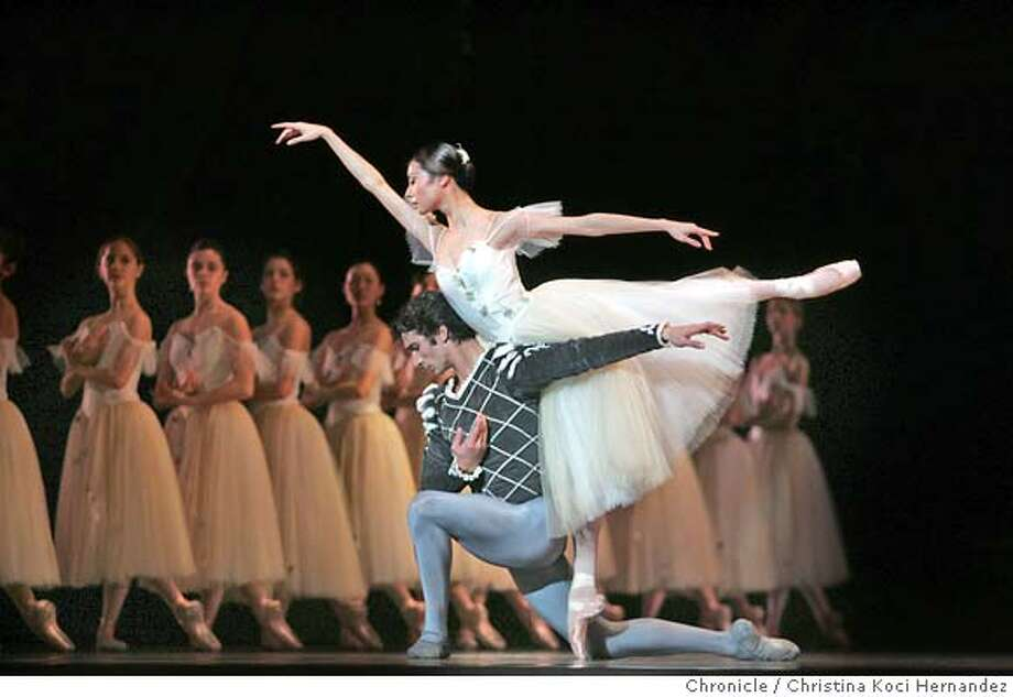 "sfballetprogram3100_ckh.jpg  Yuan Yuan Tan as ""giselle, and Pierre-Francois Vilanoba, as ""Albrect.""SF Ballet performs ""Giselle.""  City: SF, CA .CHRISTINA KOCI HERNANDEZ/CHRONICLE Photo: CHRISTINA KOCI HERNANDEZ"
