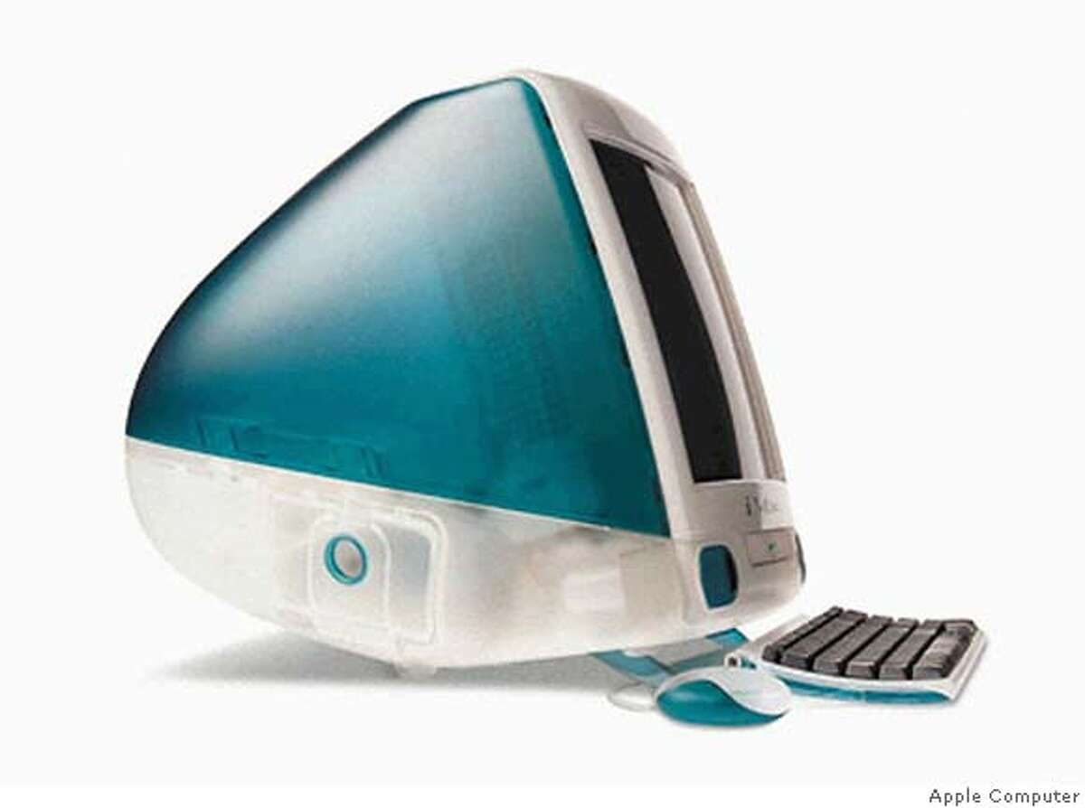 FILE--The new iMac personal computer is shown in this undated photo from Apple's internet site. The iMac, is a futuristic-looking Macintosh without a floppy drive. Apple, arguing that the 3.5-inch floppy is a dying medium, says most iMac buyers will add external drives or transfer files via e-mail. Despite a growing push to phase out the floppies, most users still swear by the inexpensive, convenient method for storing and exchanging files with friends and co-workers. (AP Photo/HO) ALSO RAN: 7/2/99 CAT
