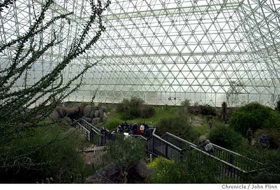 Now: Visitors today can tour the inside of Biosphere 2. Chronicle photo by John Flinn