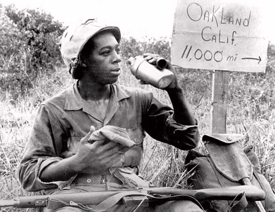 Pfc. Clairborne L. Shaw of Oakland at Chu Lai Vietnam on June 4, 1966. ANG Newspapers Photo