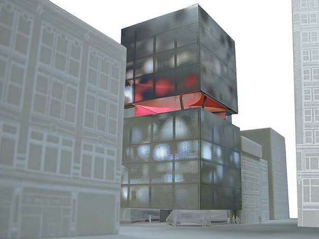 This is a photo of a model of the Prada store design by Rem Koolhaas.  HANDOUT Photo: HANDOUT
