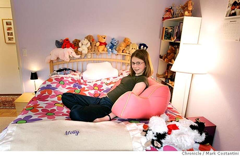 We're doing a story about a few bedrooms decorated by and for teens. Molly Duncan Stone in her room. . Mark Costantini / The Chronicle Photo: Mark Costantini