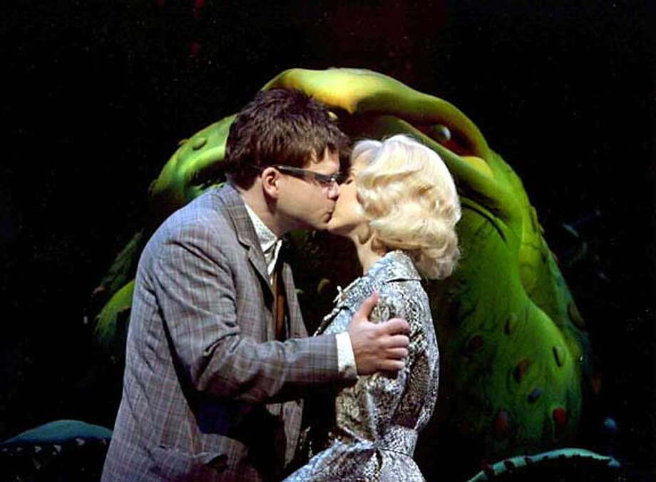 fallarts29_stage_horrors3.JPG Hunter Foster and Kerry Butler in LITTLE SHOP OF HORRORS. HANDOUT/ PAUL KOLNIK