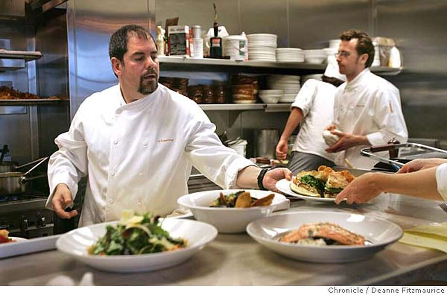 Mitch Rosenthal said he could not take a job as White House chef because his wife would not approve of him cooking for President George W. Bush. At right is Paul O'Brien. The White House is looking for a new chef. Several San Francisco chefs discussed whether they would work for President Bush. Deanne Fitzmaurice / The Chronicle Photo: Deanne Fitzmaurice