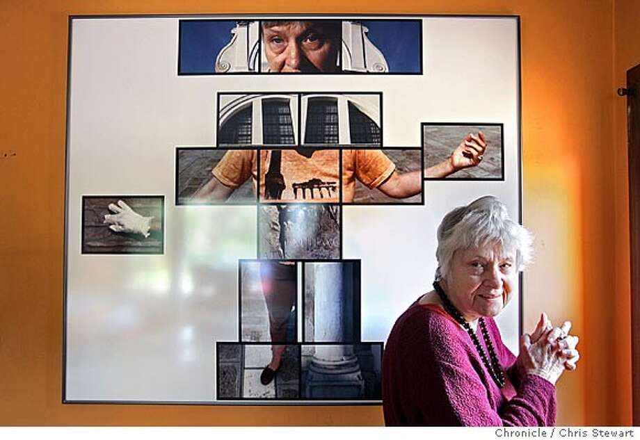 Event on 1/17/05 in Berkeley.  Blindness hasn't affected Berkeley photographer Alice Wingwall's vision. Pictures keep coming. Only the way she frames them has changed. One of the life-affirming finds she made after gradually losing her sight to a retinal disease was that vision takes place in the brain, not the eyes. Her brain works fine and therefore she continues to think and create visually. She remains an artist, though she needs assistance to replace the failed technology of her mechanical sight. She continues to think up photo and film projects and look for collaborators to help handle the materials and equipment. Wingwall's art will be featured in an upcoming exhibition at the Berkeley Art Museum on the art of visually impaired people. Chris Stewart / The Chronicle Photo: Chris Stewart