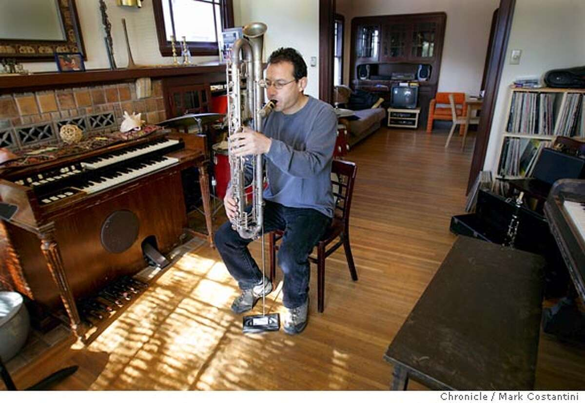 Berkeley-based Clarinetist/composer Ben Goldberg has been a creative catalyst in the Bay Area for 25 years, a brilliant musician who is revered by his peers. He was a primary force in sparking the klezmer/jazz movement in the early 80s. Shoot is at his house, where he rehearses. Mark Costantini / The Chronicle Mark Costantini / The Chronicle