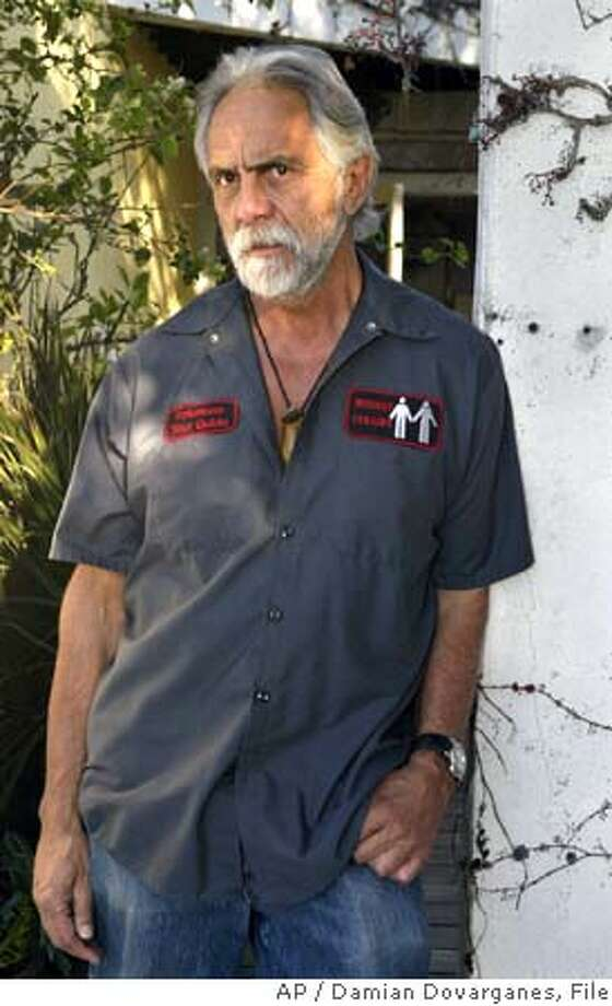 ** FILE ** Tommy Chong poses for a photo at his home in the Pacific Palisades area of Los Angeles, in this Dec. 2, 2004 file photo. (AP Photo/Damian Dovarganes, File) DEC. 2, 2004 FILE PHOTO Photo: DAMIAN DOVARGANES