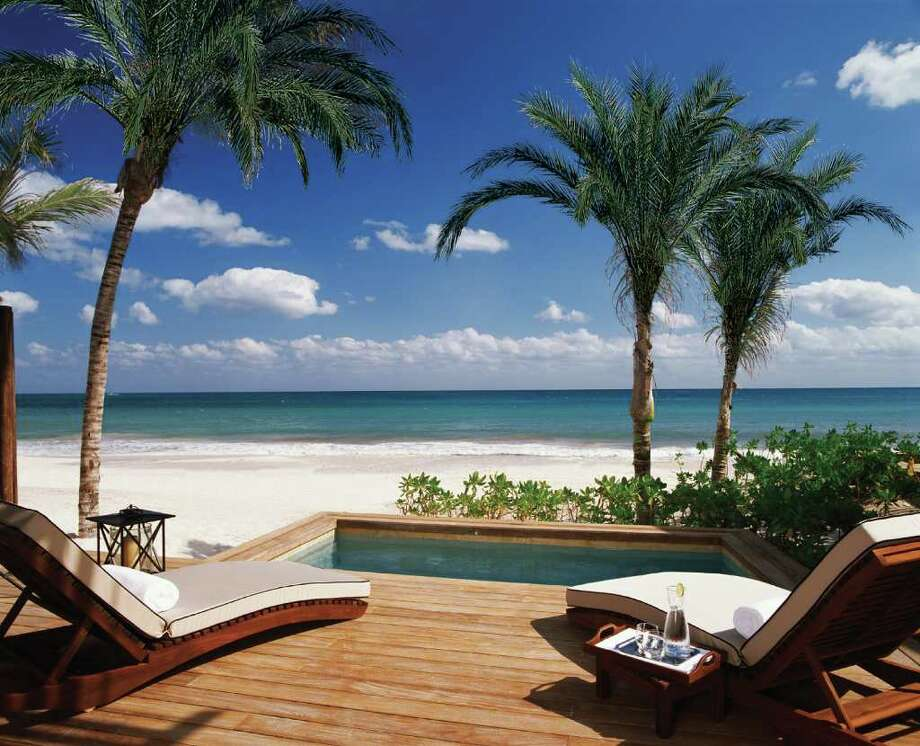 Rosewood Mayakobá is located on a mile of sugary white sands just north of Playa del Carmen. It was voted the Top Resort in Mexico and 18th in the World in Travel + Leisure's 2009 World's Best Awards. / Kristin.Finan@chron.com