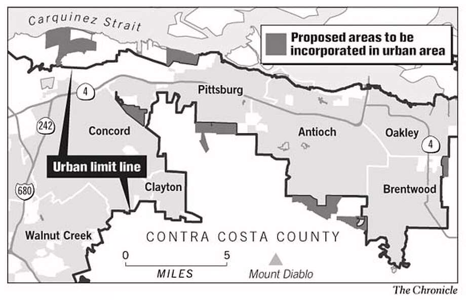 Proposed Areas to be Incorporated in Urban Area. Chronicle Graphic Photo: John Blanchard