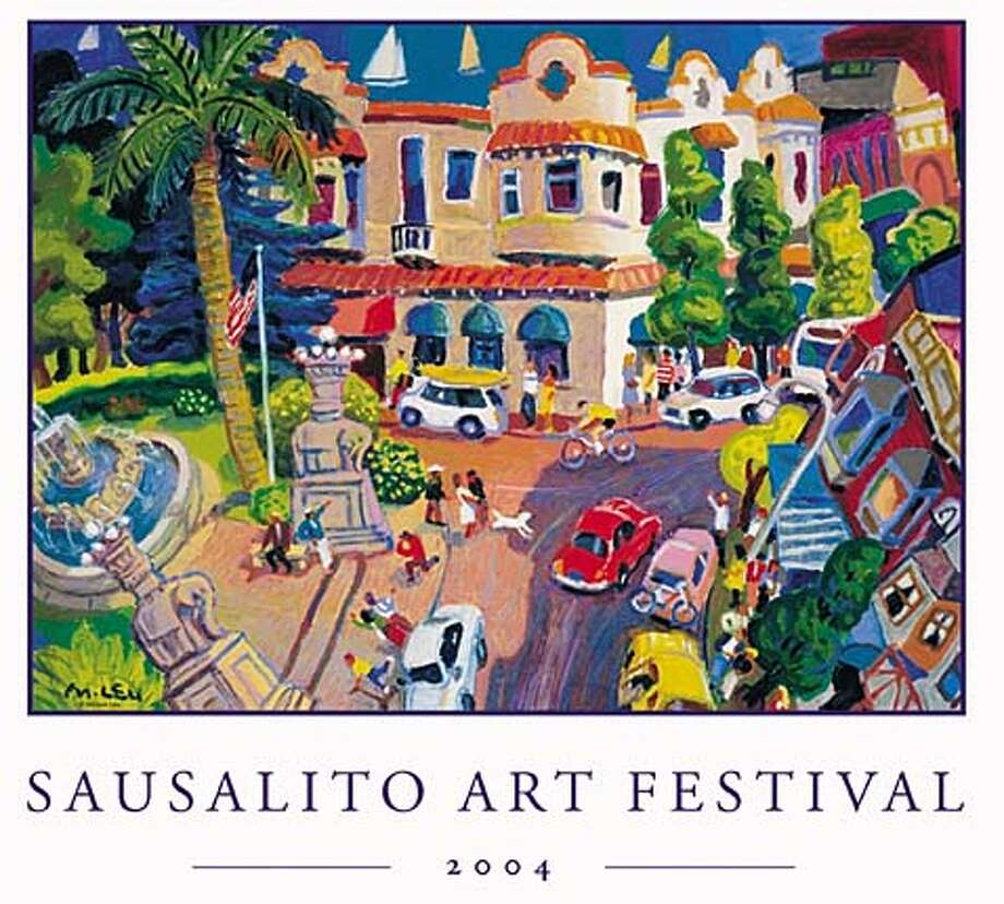 The Sausalito Art Festival has been a Labor Day Weekend tradition in the Bay Area arts community for more than a half-century. This year's poster was designed by Michael Leu.