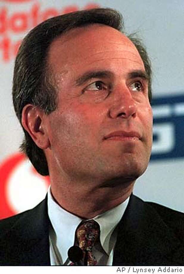"** FILE ** Ivan Seidenberg pauses during a news conference Tuesday, Sept. 21, 1999, in New York. Verizon Communications Inc. Monday, Feb. 14, 2005, agreed to acquire MCI Corp. for more than $6.7 billion in a deal that snatches the once-troubled long-distance provider away from a rival bid. ""This is the right deal at the right time,"" said Verizon Chairman and CEO Ivan Seidenberg. (AP Photo/Lynsey Addario) SEPT. 21, 1999, PHOTO Photo: LYNSEY ADDARIO"
