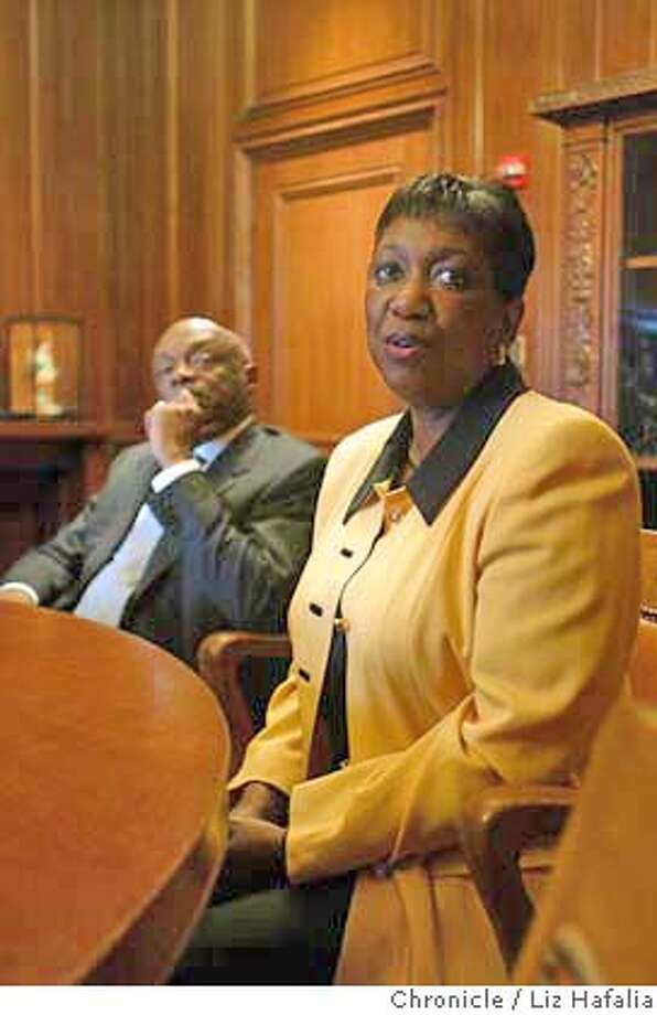 Arlene Ackerman meeting with Willie Brown. Shot on 9/25/03 in San Francisco. LIZ HAFALIA / The Chronicle Photo: LIZ HAFALIA