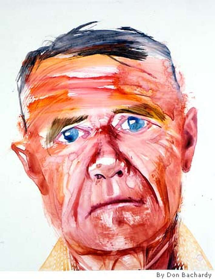 Christopher Isherwood as painted by his longtime partner Don Bachardy, August 14, 1980