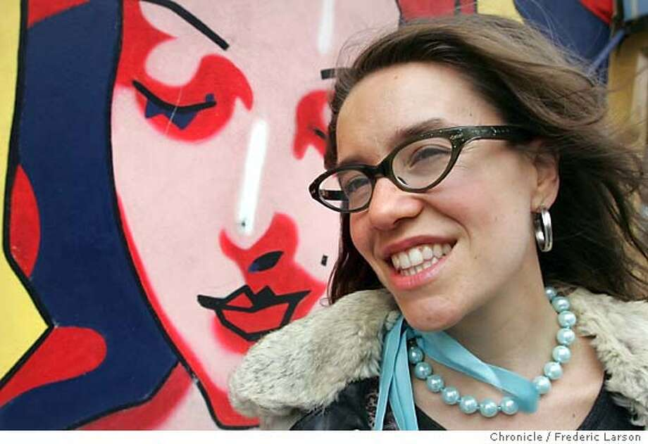 """Author/poet/ gay activist Michelle Tea, author of the new illustrated novel, """"rent girl,"""" about her years in the sex industry. Location:� 8/18/04  San Francisco Chronicle Frederic Larson Photo: Frederic Larson"""
