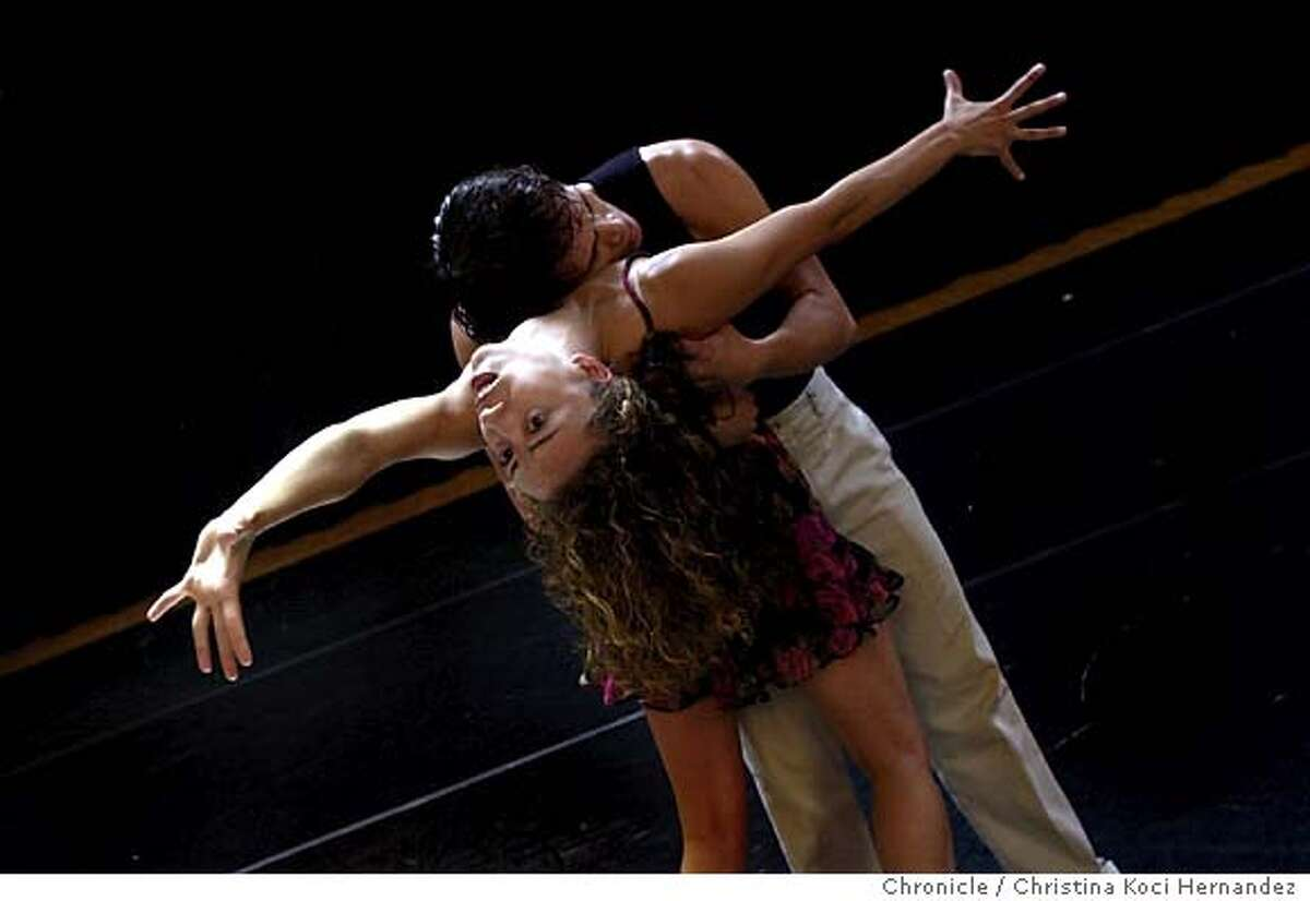 ODC dancers, Annie Zivolich and Daniel Satos, rehearse a duet.Laura Rawlings has bought out the Cowell theater for a one-night only free dance event that includes almost every major Bay Area Company performing. We go to rehearsal of oneof the groups at the ODC Theater to help set the stage. PRobably aim for a moody rehearsal shot rather than a literal photo. CHRISTINA KOCI HERNANDEZ/CHRONICLE