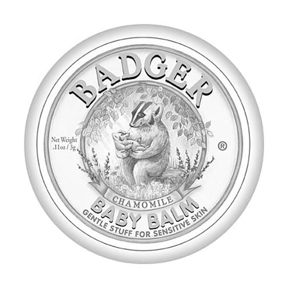 Many children�s stories feature a badger, but they are usually the Eurasian badger found in England, where our old nursery rhymes originated. These charming label illustrations feature our own American Badger. (Baby Balm label drawn by Kate Beetle, Cuticle Care label drawn by Ginny Joyner) Photo: Label Drawn By Kate Beetle