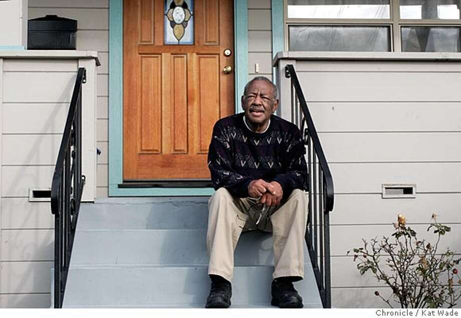"On 2/7/05 in Berkeley Morrie Turner, 81, who was the first black syndicated cartoonist works at home in the house his parents bought in 1942. His cartoon ""Wee Pals,"" was first syndicated 40 years ago on February 12, 1965. Turner still maintains regular studio hours and has recently created the book ""Super Sistahs,"" Kat Wade / The Chronicle Photo: Kat Wade"