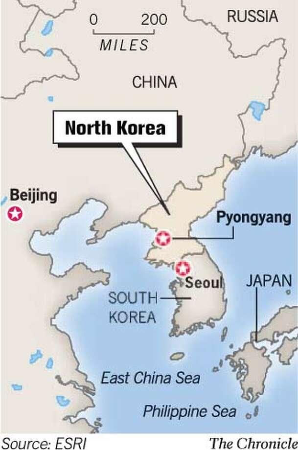 North Korea. Chronicle Graphic