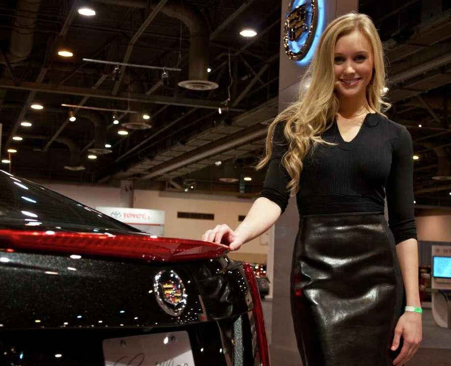 Houston Auto Show women 2013 Cadillac ATS Photo: Pete Holley