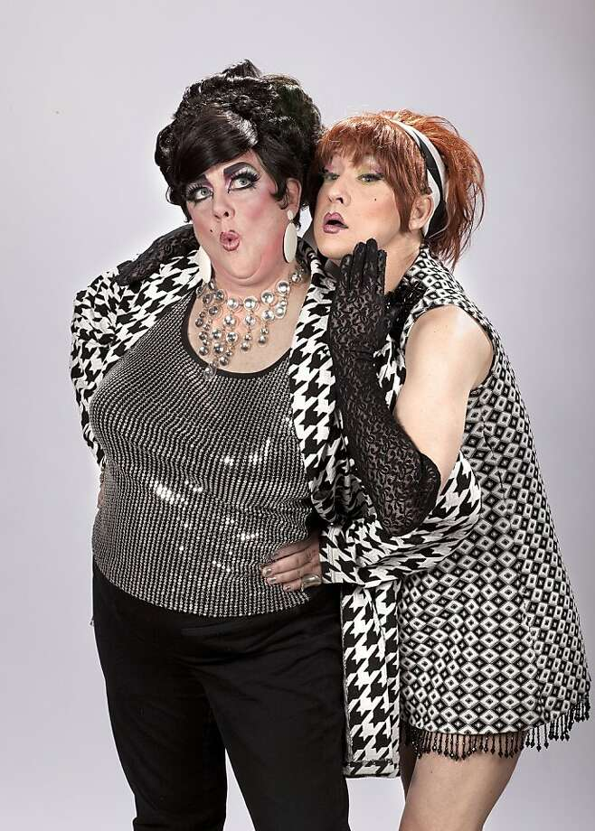 "Leigh Crow (left) and Birdie-Bob Watt in the Cockettes' ""Vice Palace"" at Thrillpeddlers' Hypnodrome Photo: David Wilson"