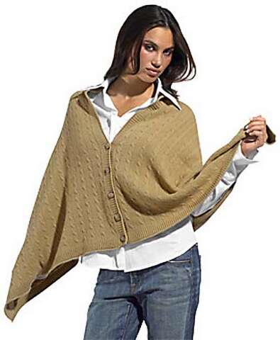 f831c262902 Vince cable knit poncho, $245, at eluxury. com. HANDOUT