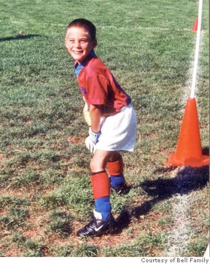 Connor Bell, 9, in Mill Valley during a 2004 soccer pracitce.  Photo courtesy Bell family Photo: H/O