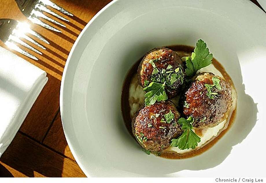 MEATBALLS09_227_cl.JPG  Meatballs served at Town Hall restaurant at 342 Howard street. The chef is Mitchell Rosenthal.  Event on 1/29/05 in San Francisco. Craig Lee / The Chronicle MANDATORY CREDIT FOR PHOTOG AND SF CHRONICLE/ -MAGS OUT Photo: Craig Lee