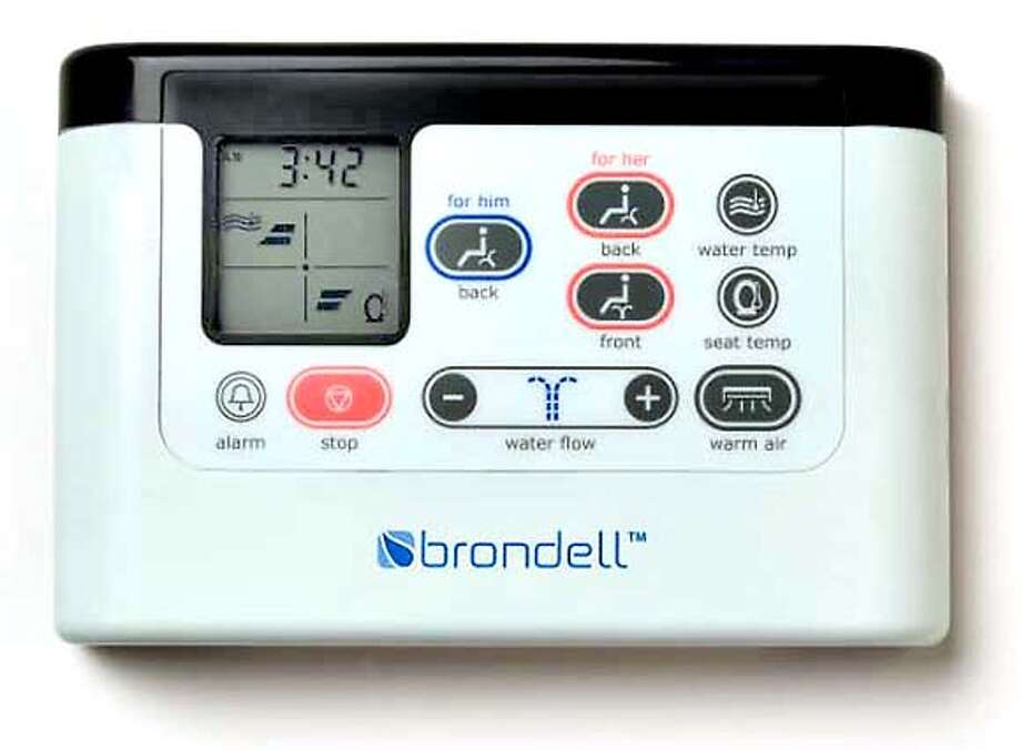 Brondell's advance model comes with a wireless remote. Photo courtesy Brondell Inc.
