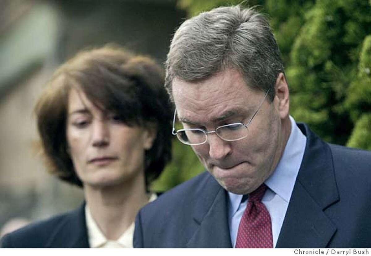 Secretary of State of California, Kevin Shelley, resigned from office at a press conference in front of his home in Diamond Heights. Event on 2/4/05 in San Francisco. Darryl Bush / The Chronicle