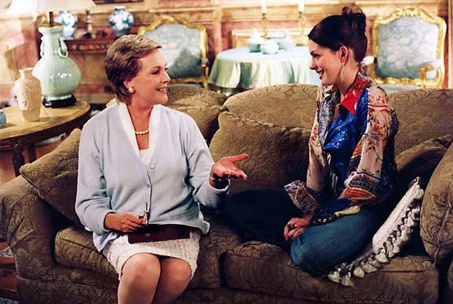 "Julie Andrews and Anne Hathaway in ""Princess Diaries 2: Royal Engagement"" Photo: Buena Vista Pictures"