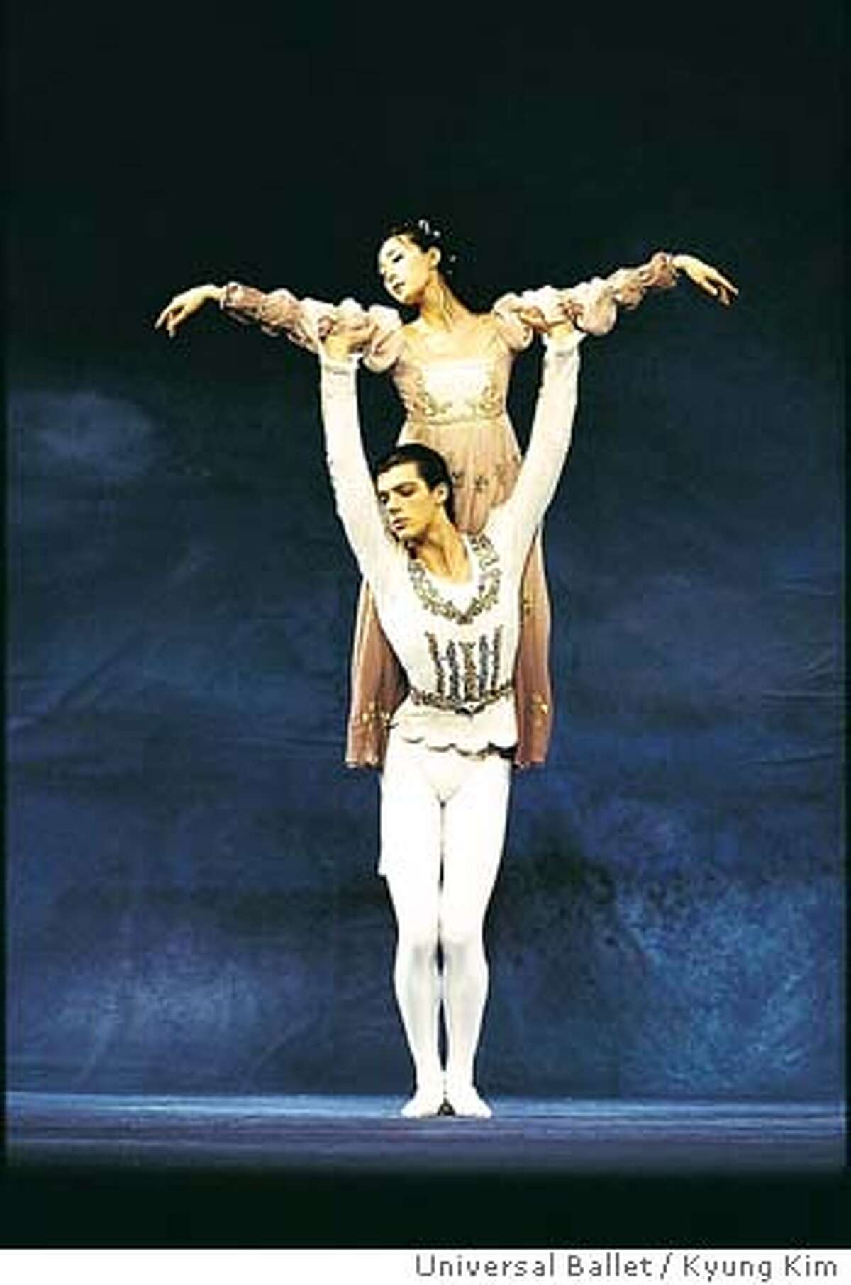 UNIVERSAL2.JPG Seh-Yun Kim and Artem Shipilevsky play Juliet and Romeo in Universal Ballet / Kyung Kim�s �Romeo and Juliet� Kyung Kim / HANDOUT