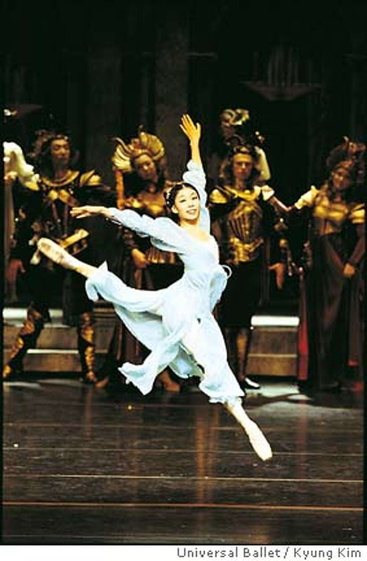 UNIVERSAL1.JPG Wang Yi as Juliet in Universal Ballet�s �Romeo and Juliet� Kyung Kim / HANDOUT