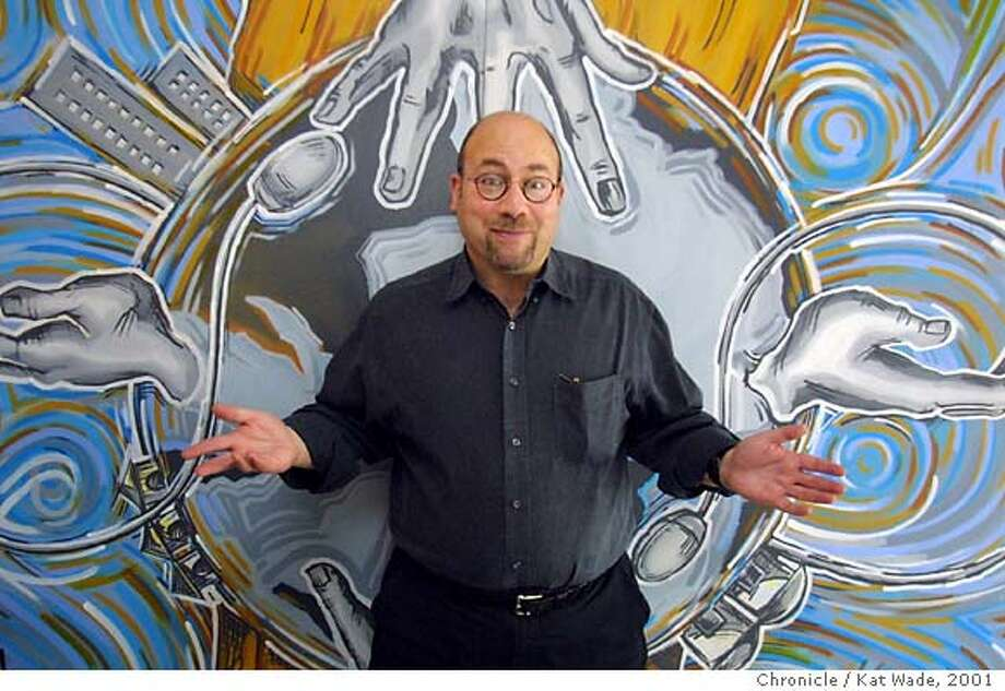 Craig Newark, Founder and CEO of Craigslist.org a thriving internet site based in the sunset district of San Francisco, poses in from a mural designed for craigslist .org with the concept of bringing people and communities together. The artist is Christopher Santos of Artist Precitaeyes, a group that like Craigslist.org does a lot of community outreach. SAN FRANCISCO CHRONICLE PHOTO BY KAT WADE Photo: KAT WADE