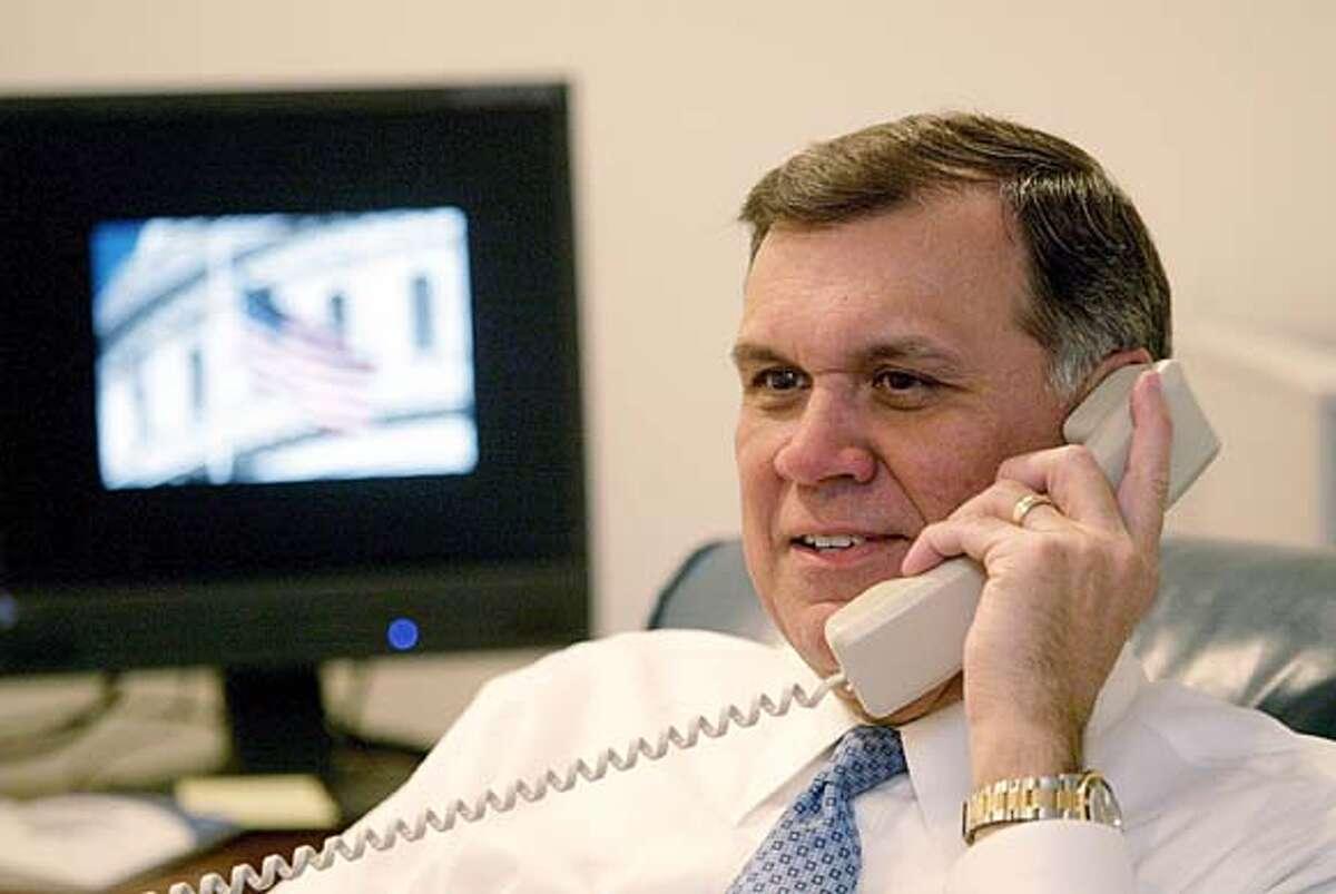 cox-martinez-office2-1--Washington, D.C.--Senator Mel Martinez (R-FL), at his office in Washington, D.C., Tuesday, Feb. 1, 2005. Staff Photo by Gary Coronado