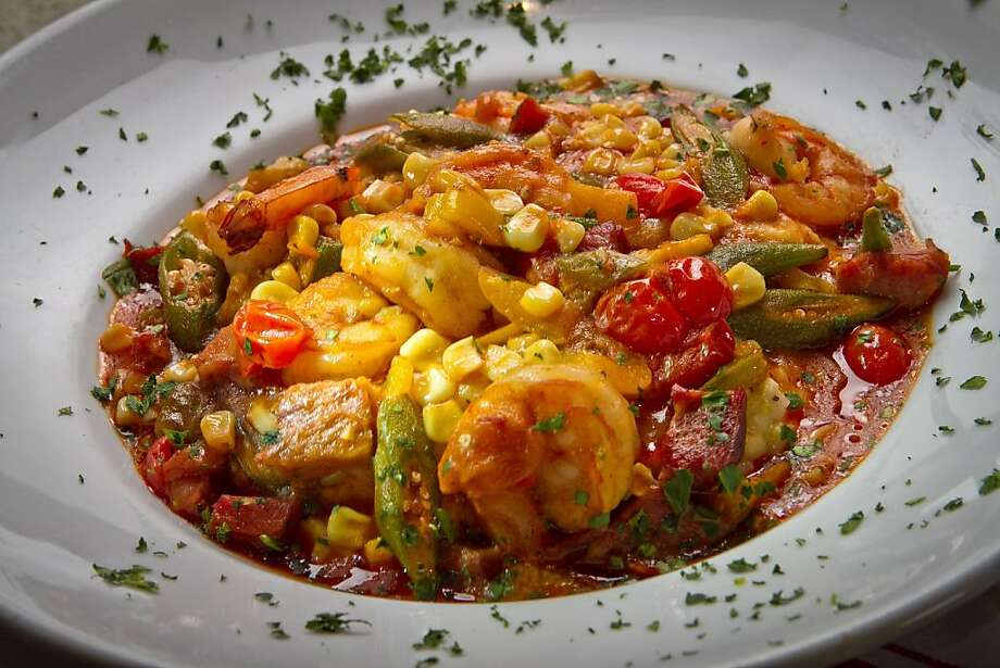 The Shrimp and Grits at Sweet T's Restaurant in Santa Rosa, Calif., is seen on Monday, January 23rd, 2012. Photo: John Storey