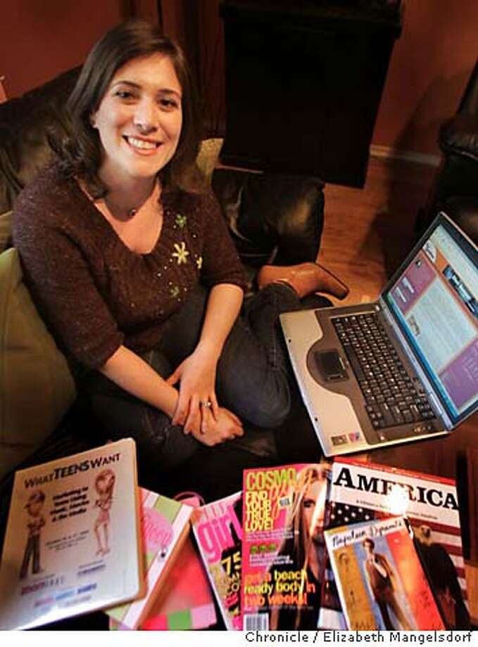 blog034_lm.JPG Event on 1/12/05 in San Francisco.  Anastasia Goodstein in her home in Noe Valley. She writes a blog about teen culture.  Liz Mangelsdorf / The Chronicle MANDATORY CREDIT FOR PHOTOG AND SF CHRONICLE/ -MAGS OUT Photo: Liz Mangelsdorf