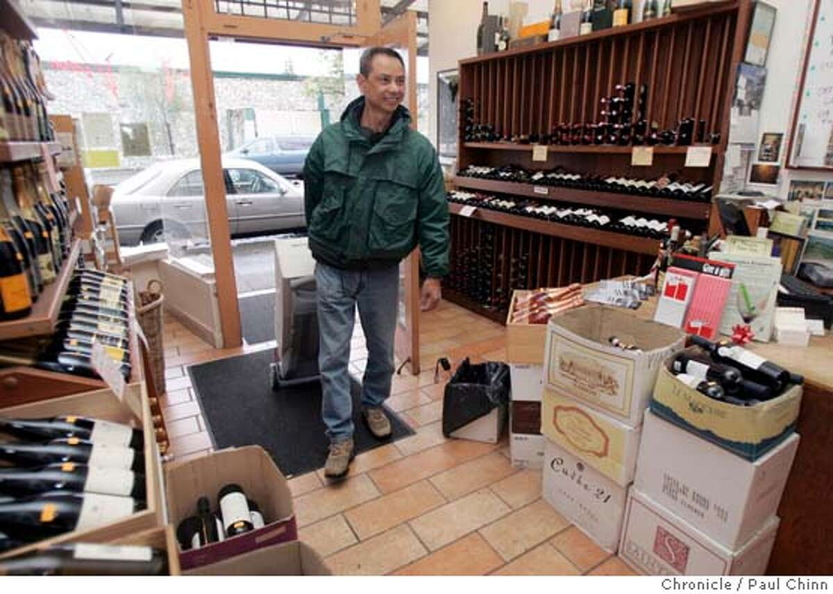 filwinemakers_026_pc.jpg Danny Villamin arrives with three cases of his family's wine at Vino wine shop in Rockridge. Elaine Villamin and her father Danny Villamin deliver cases of their Eden Canyon cabernets to a wine merchant on 1/7/05 in Oakland, CA. The Villamins may be the first Filipino American family to grow its own grapes and make its own wine. PAUL CHINN/The Chronicle MANDATORY CREDIT FOR PHOTOG AND S.F. CHRONICLE/ - MAGS OUT
