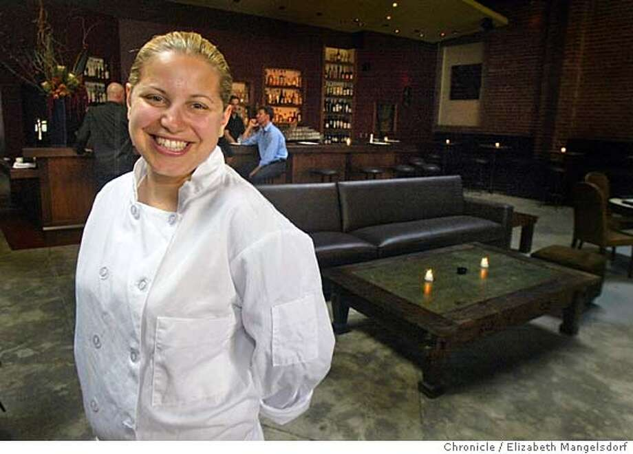 Event on 7/29/04 in San Francisco. Executive Chef Jamie Lauren, in her restaurant Levende on Mission St. In the background is the bar and a leather sofa and coffee table.  Liz Mangelsdorf / The Chronicle Photo: Liz Mangelsdorf