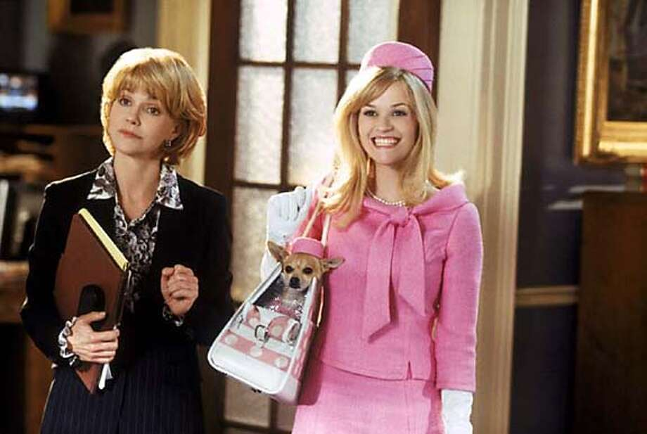 "BLONDE18-b.JPG REESE WITHERSPOON and SALLY FIELD (left) star as Elle Woods and Congresswoman Rudd in MGM Pictures� comedy ""LEGALLY BLONDE 2: RED, WHITE AND BLONDE.""  Photo: Sam Emerson on 5/6/03 in . Sam Emerson / SF Chronicle MANDATORY CREDIT FOR PHOTOG AND SF CHRONICLE/ -MAGS OUT Photo: Sam Emerson"