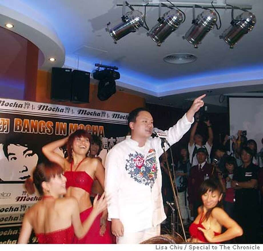 William Hung bangs again, this time in his first concert in Asia before a crowd of 200 at the Kam Pek casino in Macao on Saturday (July 31, 2004). Lisa Chiu Special To The Chronicle