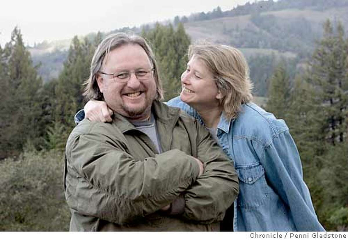 steve with wife patty. Steve Sparks, a Brit who used to own the Mad Dog in the Fog pub in the Lower Haight. He and his wife up and moved to Mendocino The San Francisco Chronicle, Penni Gladstone Photo taken on 1/10/05, in Mendocino, CA.