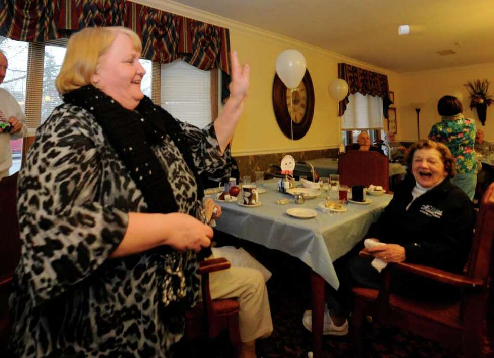 Robin Sage, Facilities Marketing joins the residents of Millview Assisted Living in Cohoes, N.Y. in the annual