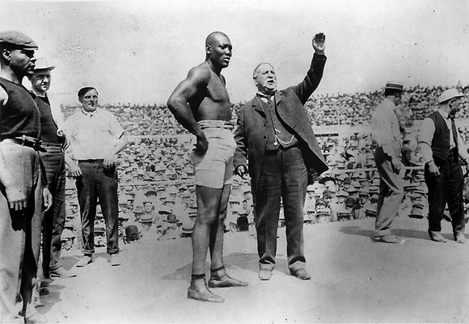 World Heavyweight Champion Jack Johnson prepares to defend his title. PBS Pressroom