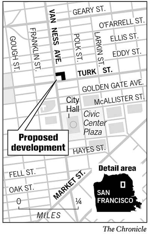 Proposed Condominium Development. Chronicle Graphic
